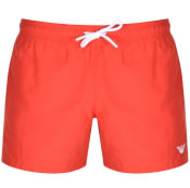 Product Image for Emporio Armani Logo Swim Shorts Red