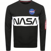 Product Image for Alpha Industries Nasa Sweatshirt Black