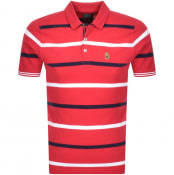 Product Image for Luke 1977 Striped New Mead Polo T Shirt Red