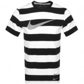 Product Image for Nike Crew Neck Stripe T Shirt Black