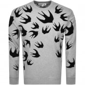 Product Image for MCQ Alexander McQueen Swallow Sweatshirt Grey