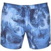 Product Image for Emporio Armani Floral Swim Shorts Navy