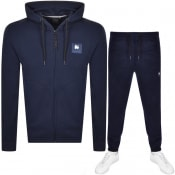 Product Image for Money A Track Zip Hooded Tracksuit Navy