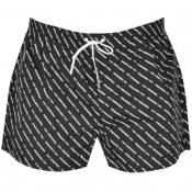 Product Image for DSQUARED2 All Over Logo Swim Shorts Black