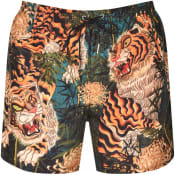 Product Image for DSQUARED2 Tiger Print Swim Shorts Green