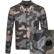Product Image for CP Company Camouflage Overshirt Jacket Green