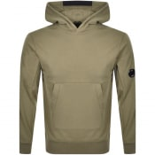 Product Image for CP Company Pullover Logo Hoodie Green