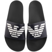 Product Image for Emporio Armani Logo Sliders Navy