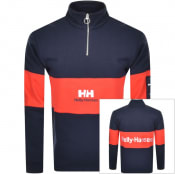 Product Image for Helly Hansen Half Zip Sweatshirt Navy