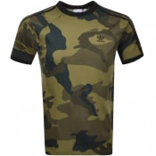 Product Image for Adidas Originals Camouflage 3 Stripe T Shirt Khaki