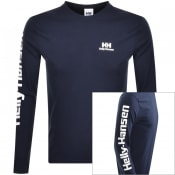 Product Image for Helly Hansen Long Sleeve T Shirt Navy