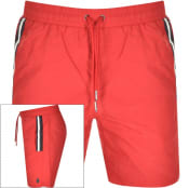 Product Image for Luke 1977 Caen Striped Detail Swim Shorts Red