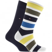 Product Image for Tommy Hilfiger 2 Pack Stripe Socks Navy