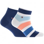Product Image for Tommy Hilfiger Two Pack Quarter Trainer Socks Navy