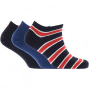 Product Image for Tommy Hilfiger Three Pack Trainer Socks Navy