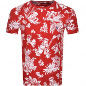 Product Image for Ralph Lauren Crew Neck Floral T Shirt Red