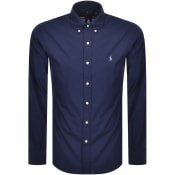 Product Image for Ralph Lauren Custom Fit Long Sleeve Shirt Navy