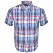 Product Image for Ralph Lauren Custom Fit Short Sleeve Shirt Blue