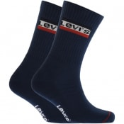 Product Image for Levis Regular Cut 2 Pack Socks Navy