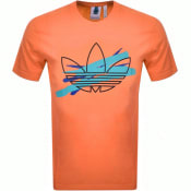 Product Image for adidas Originals Paint Logo T Shirt Orange