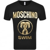 Product Image for Moschino Swim Logo Short Sleeved T Shirt Black