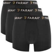 Product Image for Farah Vintage Saginaw 3 Pack Boxer Shorts Black