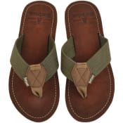 Product Image for Barbour Toeman Flip Flops Khaki