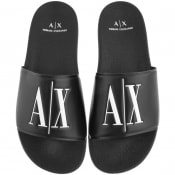 Product Image for Armani Exchange Logo Sliders Black