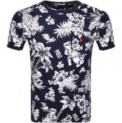 Product Image for Ralph Lauren Crew Neck Floral T Shirt Navy