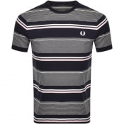 Product Image for Fred Perry Stripe Logo T Shirt Navy