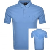 Product Image for Armani Exchange Short Sleeved Polo T Shirt Blue