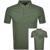 Product Image for Armani Exchange Short Sleeved Polo T Shirt Green
