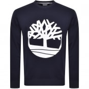 Product Image for Timberland Crew Neck Logo Sweatshirt Navy