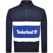 Product Image for Timberland Half Zip Logo Sweatshirt Navy