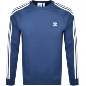 Product Image for adidas Originals 3 Stripes Sweatshirt Blue