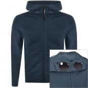 Product Image for CP Company Full Zip Goggle Hoodie Blue