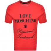 Product Image for Love Moschino Logo T Shirt Red