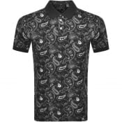 Product Image for Pretty Green Paisley Polo T Shirt Black