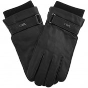 Product Image for Emporio Armani Leather Gloves Black