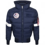 Product Image for Alpha Industries Hooded Puffer Jacket Navy
