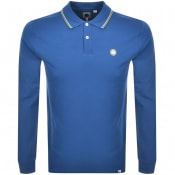 Product Image for Pretty Green Hartford Long Sleeve Polo Shirt Blue