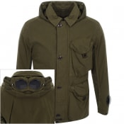 Product Image for CP Company Goggle Hood Jacket Green