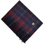 Product Image for Lyle And Scott Tartan Woven Scarf Navy