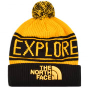 Product Image for The North Face Retro Pom Beanie Hat Yellow