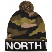 Product Image for The North Ski Tuke Pom Beanie Hat Green