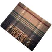 Product Image for Gant Twill Checked Wool Scarf Beige
