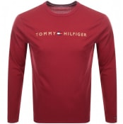 Product Image for Tommy Hilfiger Lounge Long Sleeved T Shirt Red
