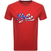 Product Image for Ralph Lauren  Crew Neck Logo T Shirt Red