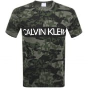Product Image for Calvin Klein Crew Neck Logo T Shirt Green