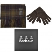 Product Image for Barbour Lambswool Scarf And Gloves Gift Set Green